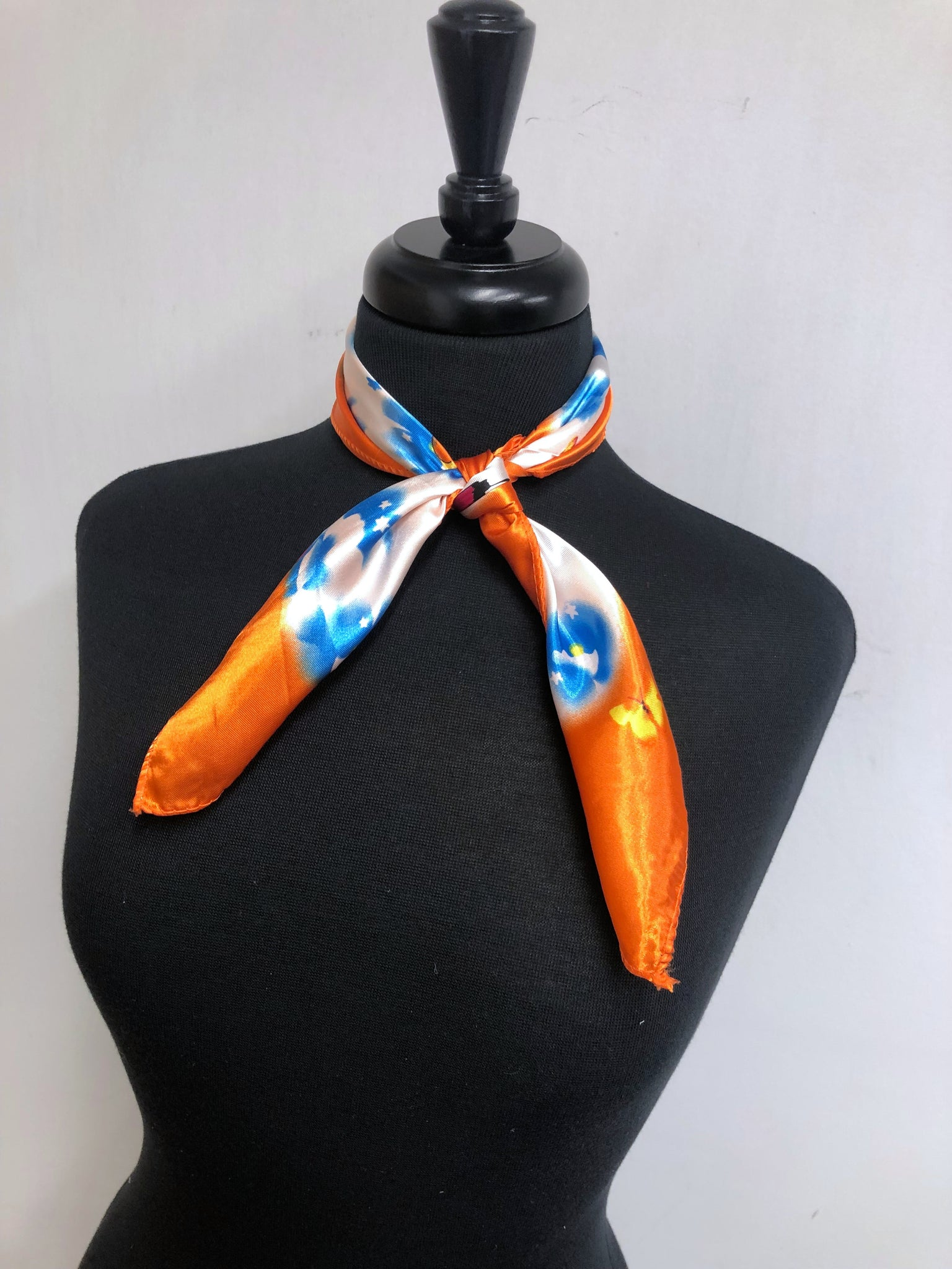Orange & Blue Butterfuly Scarf