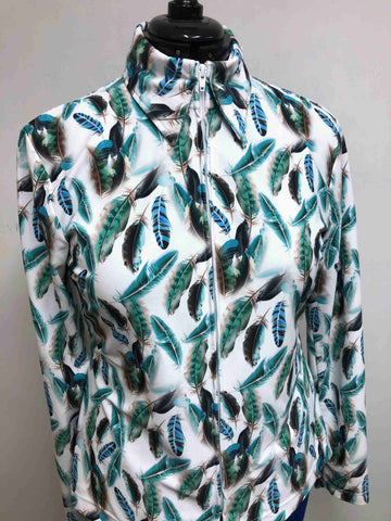 Feather Print Show Shirt