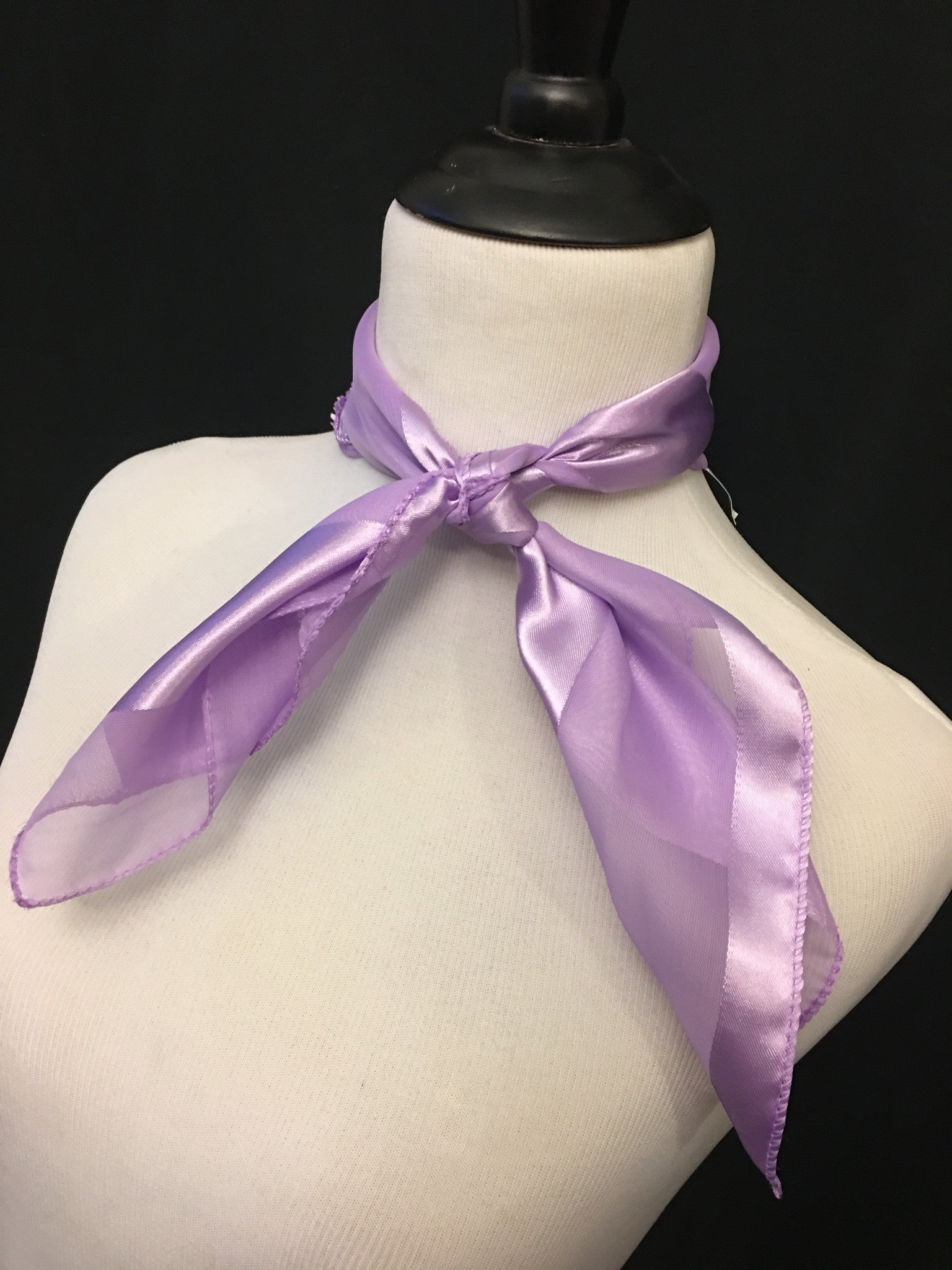 Light Purple Stripe Sheer Scarf