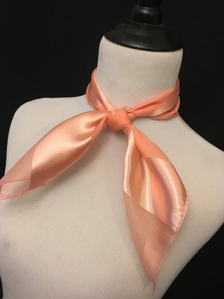 Peach Stripe Sheer Scarf