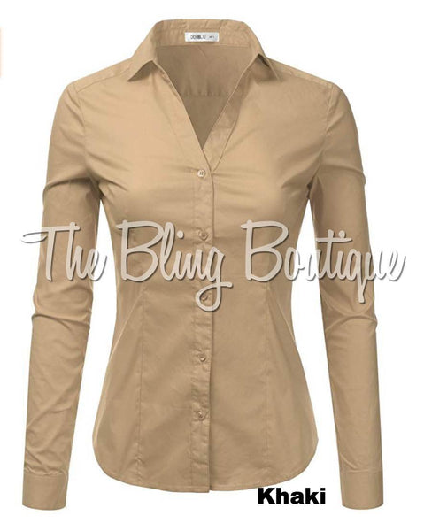 (Multiple Colors Available) Button Down Shirt