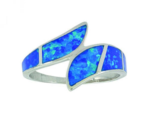 Montana Silversmiths River of Lights Dueling Waves Opal Ring
