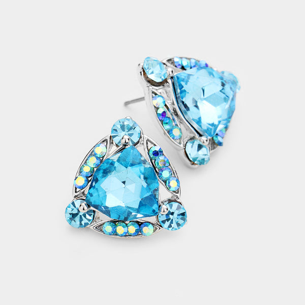 Crystal Show Earrings (Multiple Colors Available)