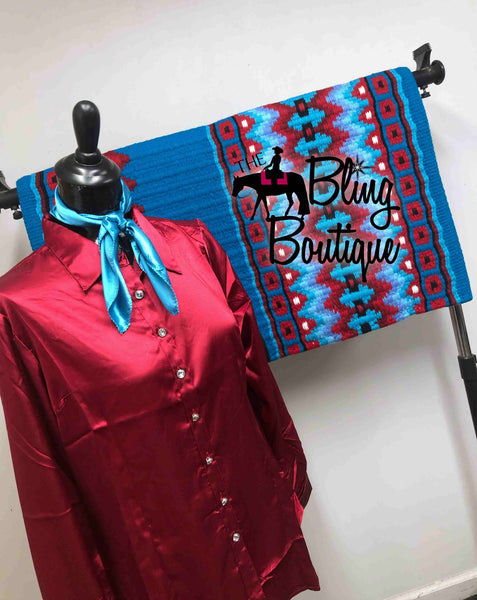 Turquoise & Red Pad Set (Multiple Colors & Sizes Available)