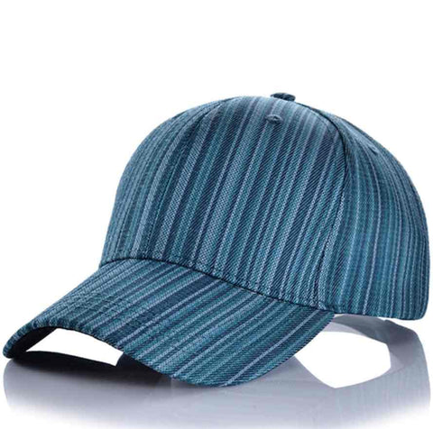 Denim Stripe Hat