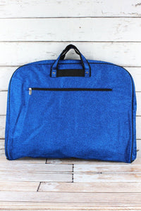 Blue Glitter Garment Bag