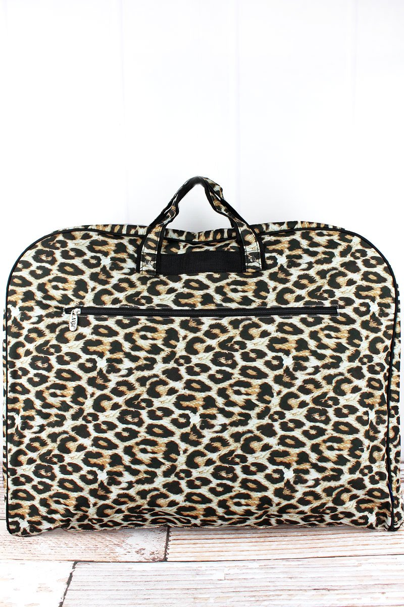 Leopard Print Garment Bag