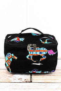 Aztec Pony Print Cosmetic Case