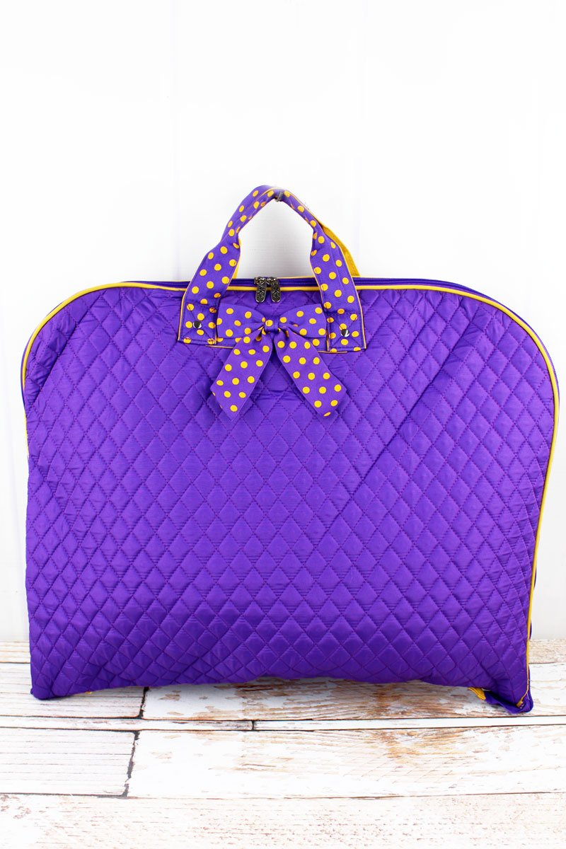 Purple & Yellow Quilted Garment Bag