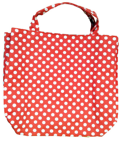Clippy liner for small tote bag - red with white spots
