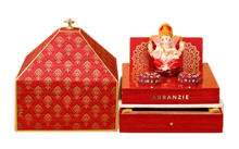Load image into Gallery viewer, Blessing of Lord Ganesha themed wedding Bag invitation Traditional