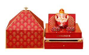 Blessing of Lord Ganesha themed wedding Bag invitation Traditional