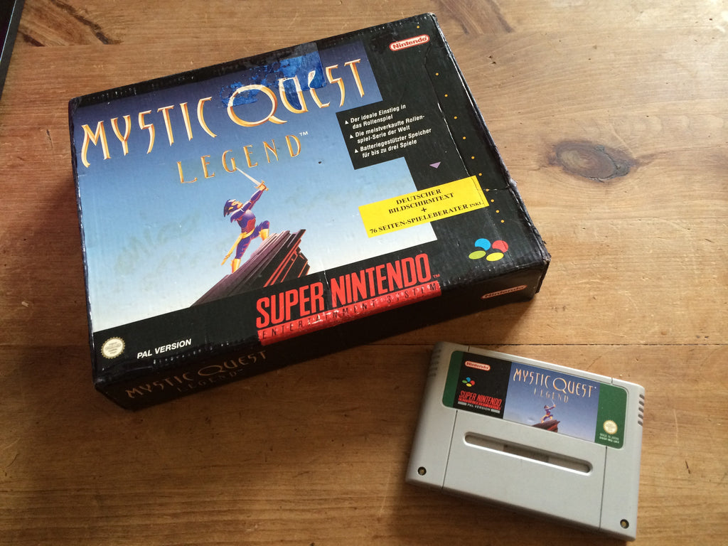 Mystic Quest (SNES) w/ German Big Box