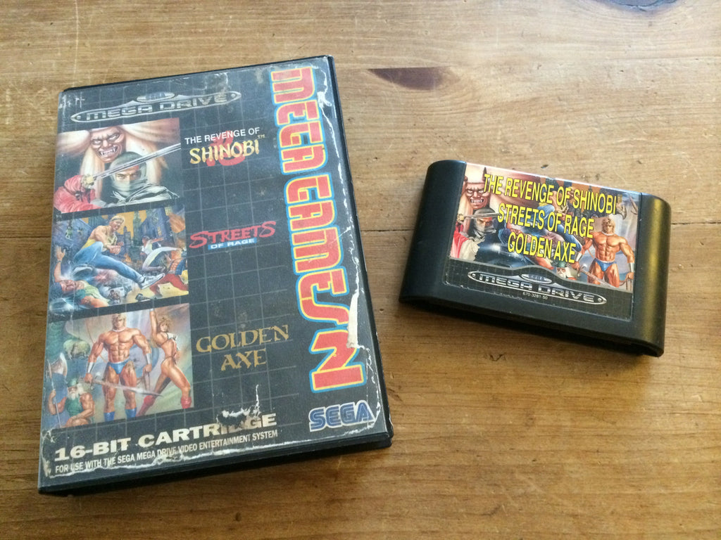 Mega Games 2 featuring The Revenge of Shinobi, Streets of Rage & Golden Axe (Mega Drive)