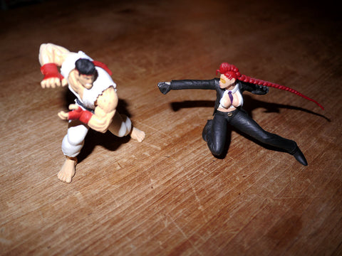 Street Fighter Figures - Ryu & C. Viper