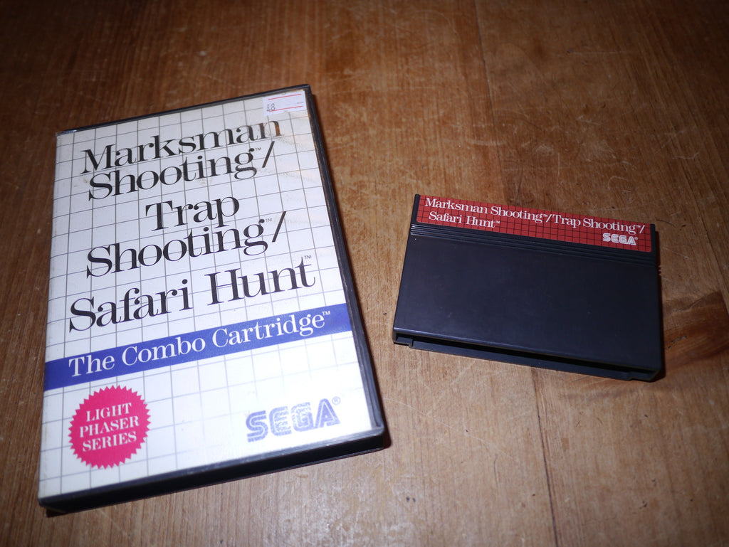 The Combo Cartridge: Marksman Shooting / Trap Shooting / Safari Hunt (Master System)