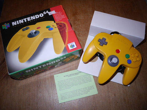 Nintendo N64 Boxed Yellow Controller