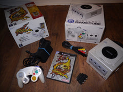 Nintendo GameCube Console (Pearl White) Mario Smash Football Pak Complete with Game