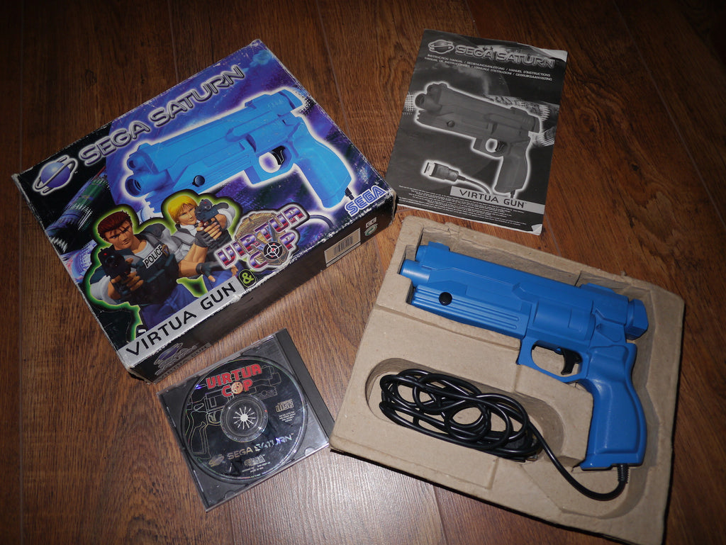 Boxed Sega Saturn Virtua Gun with Virtua Cop