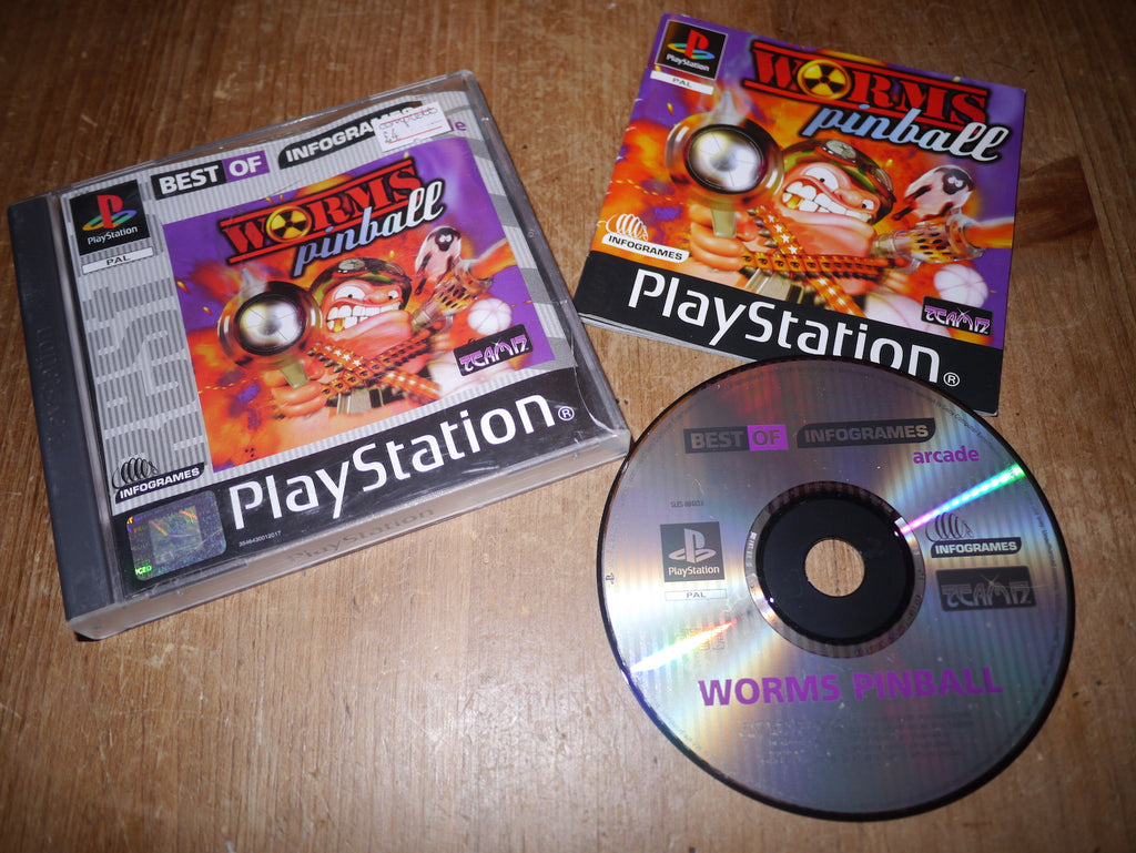 Worms Pinball (Best of Infogrames) (Playstation)