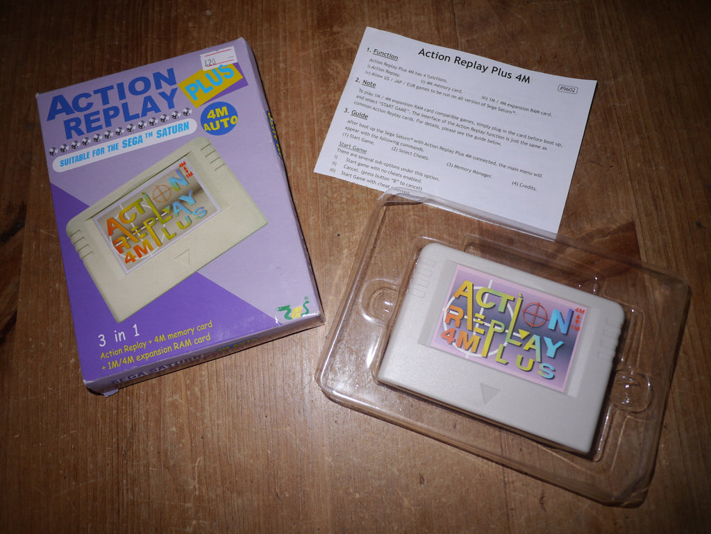 Sega Saturn Action Replay Plus Memory Card/Expansion Pack (Boxed)