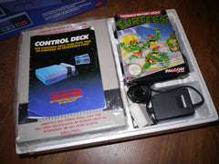 Nintendo NES Control Deck Teenage Mutant Hero Turtles Edition complete with boxed game & 2 controllers