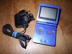 Nintendo Game Boy Advance SP with Charger (Blue)