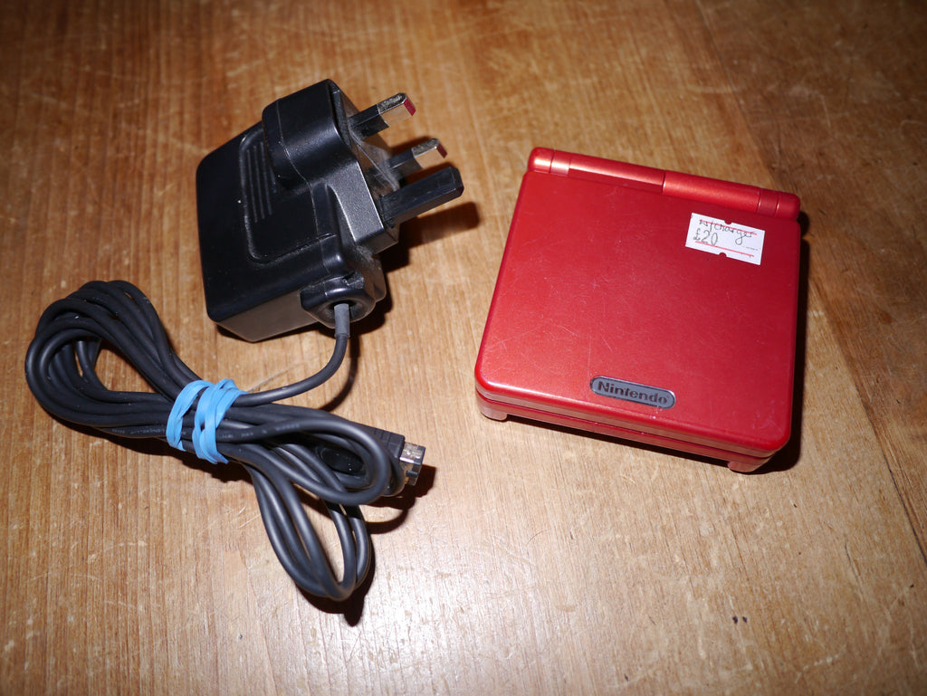 Nintendo Game Boy Advance SP with Charger (Red)