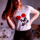 Romie Rose Print T-Shirt