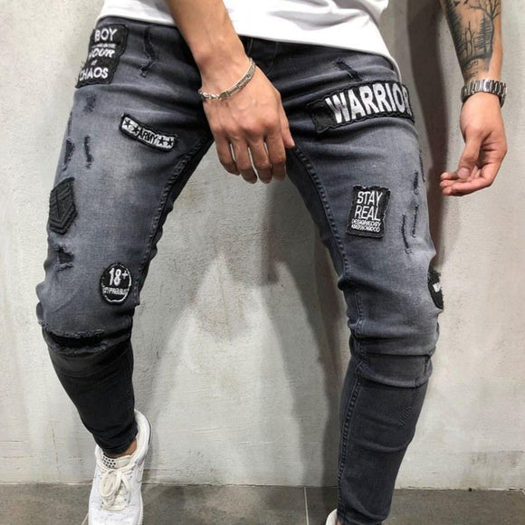 Warrior Distressed Skinny Jeans