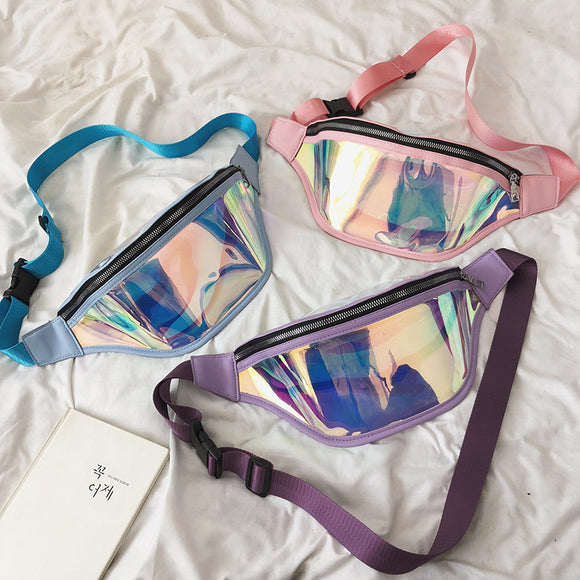 Laser Holographic Belt Bag