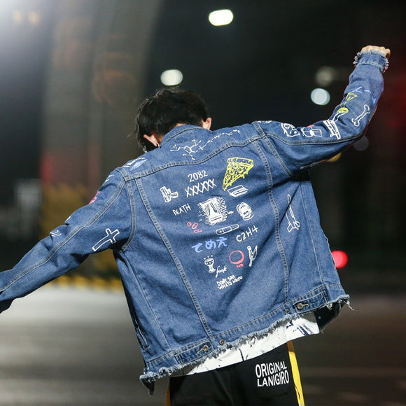 Graffiti Mode Denim Jacket