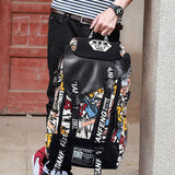 Graffiti Print Canvas Backpack