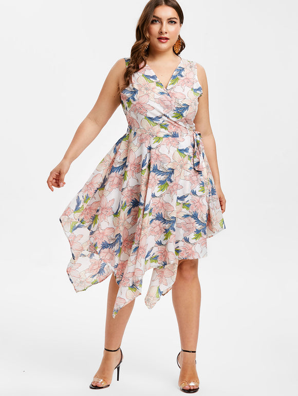 Jodie Floral Asymmetrical Sundress