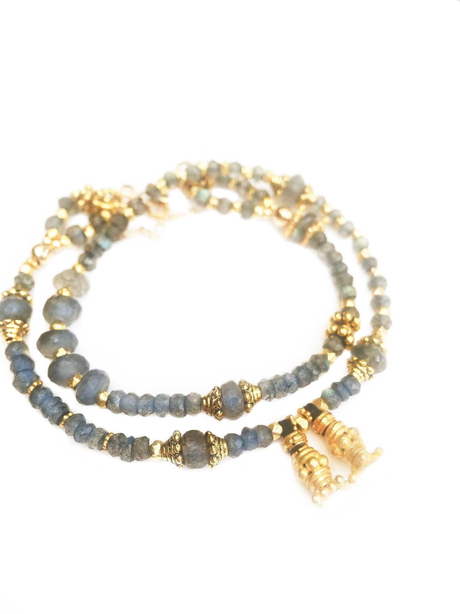 Multi Size Labradorite & Gold Love Wrap