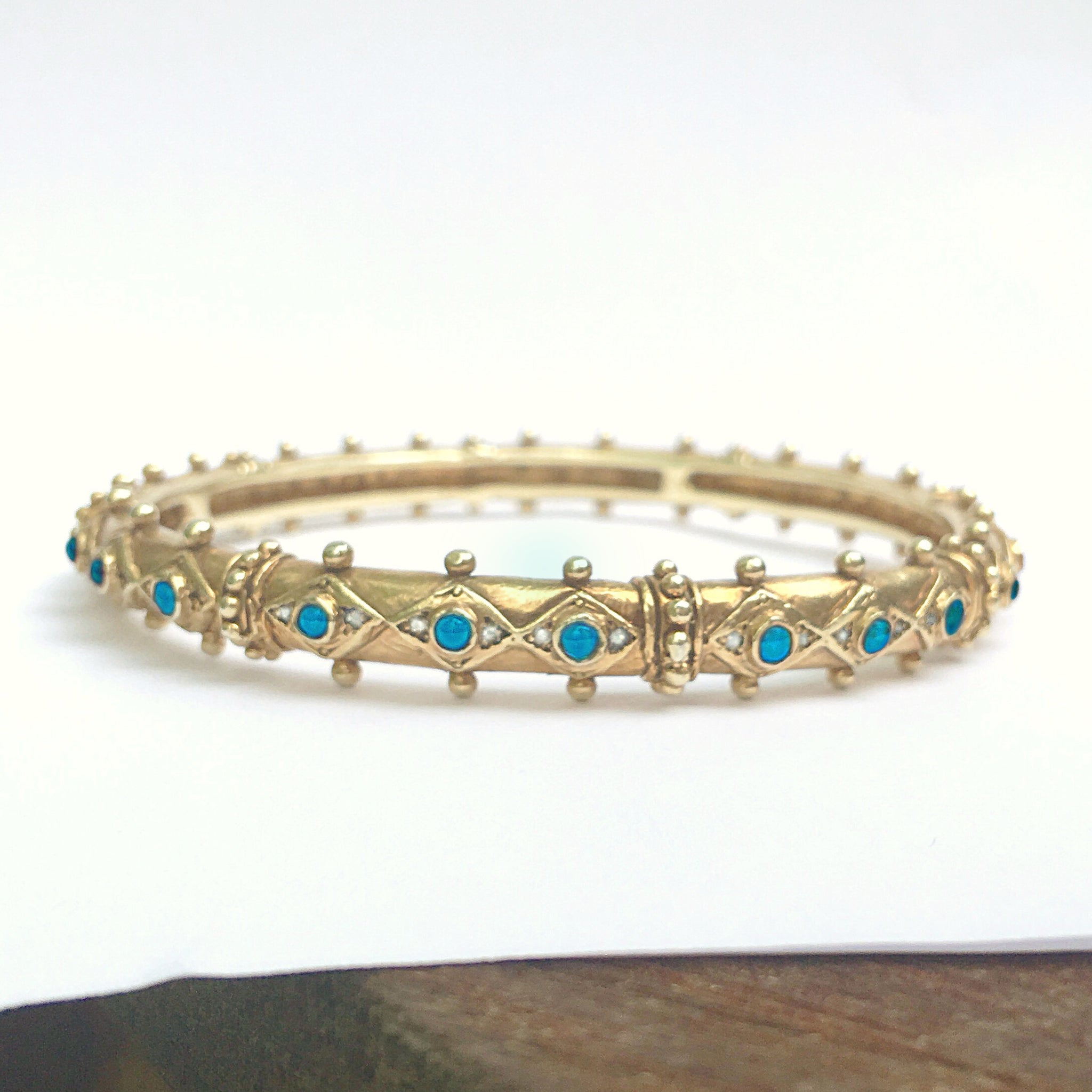 Gemstone Gold Shakti Bangle