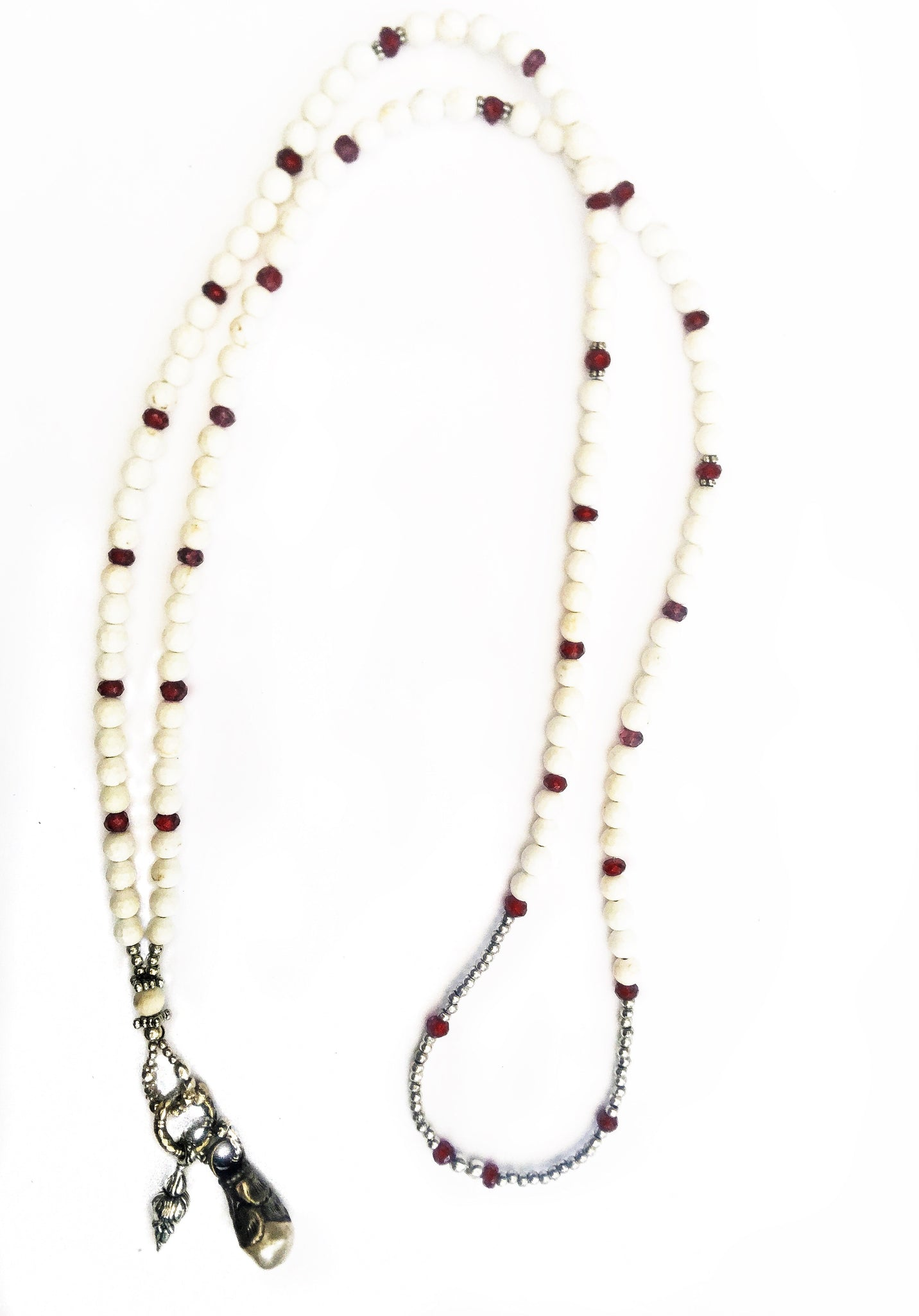 Garnet & Mala Serenity Necklace