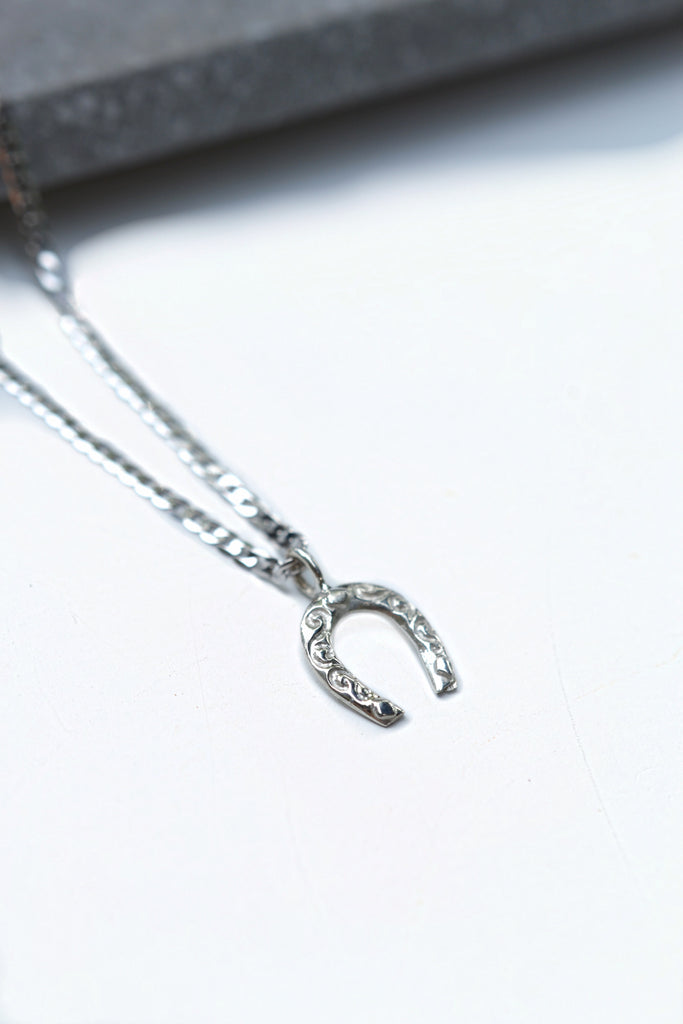 Sterling Silver Horseshoe Pendant On Chain