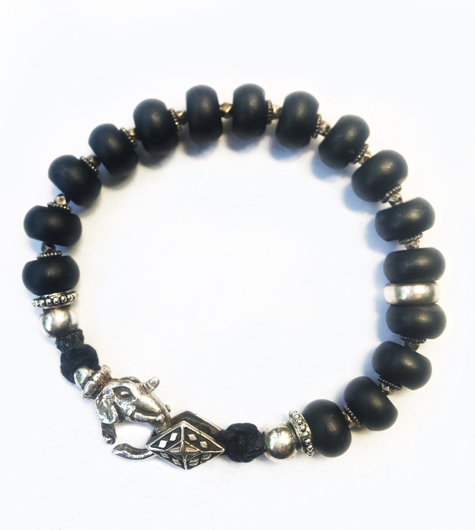 Unique Black Beaded Bracelet