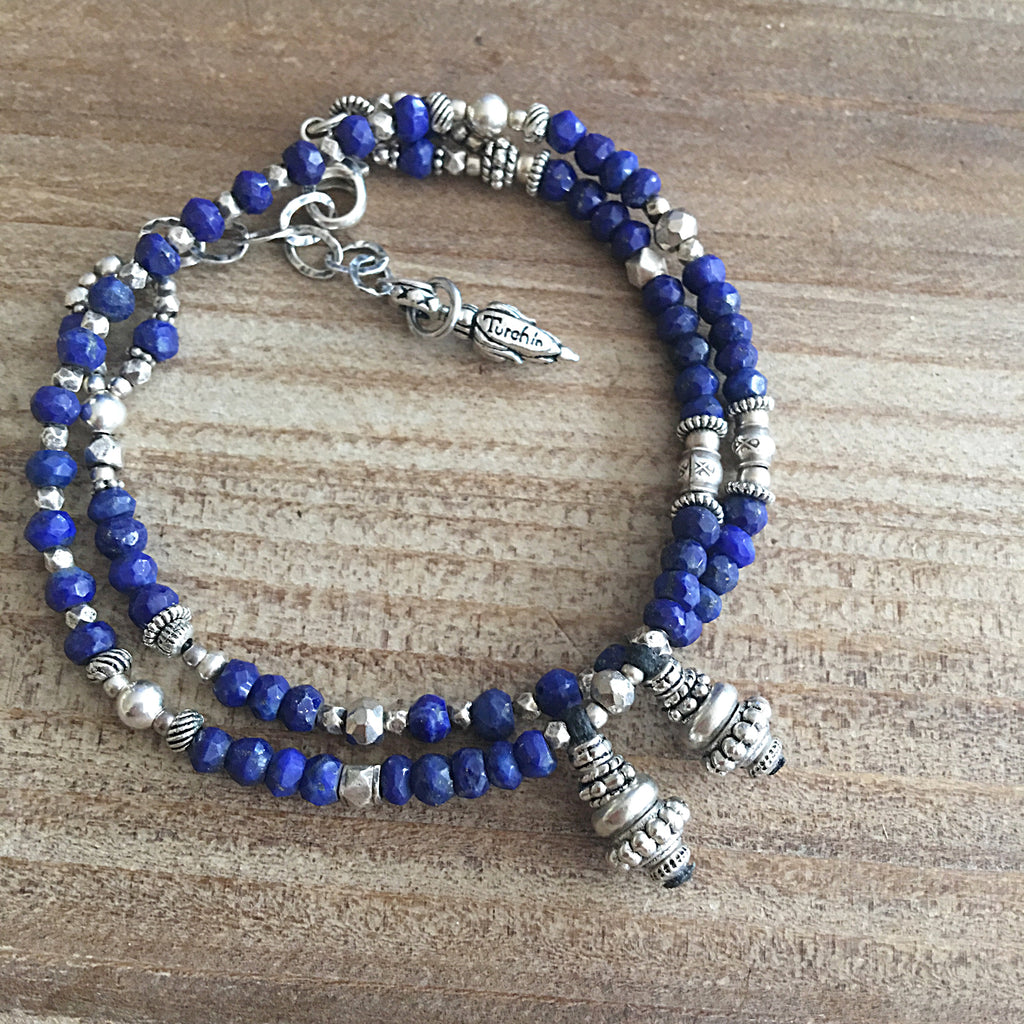 Blue Lapis and Silver Love Wrap