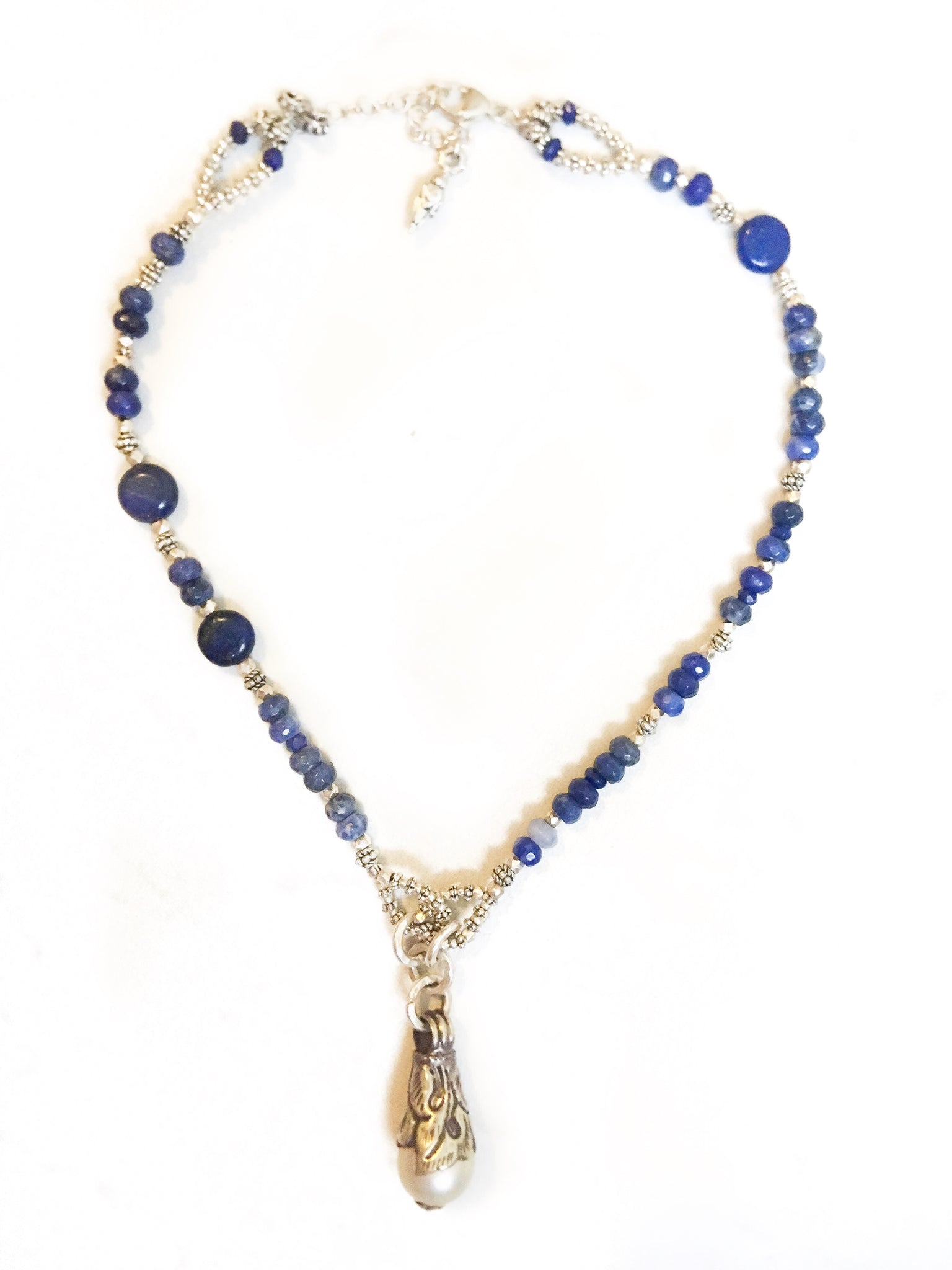 Lovely Lapis & Pearl Necklace