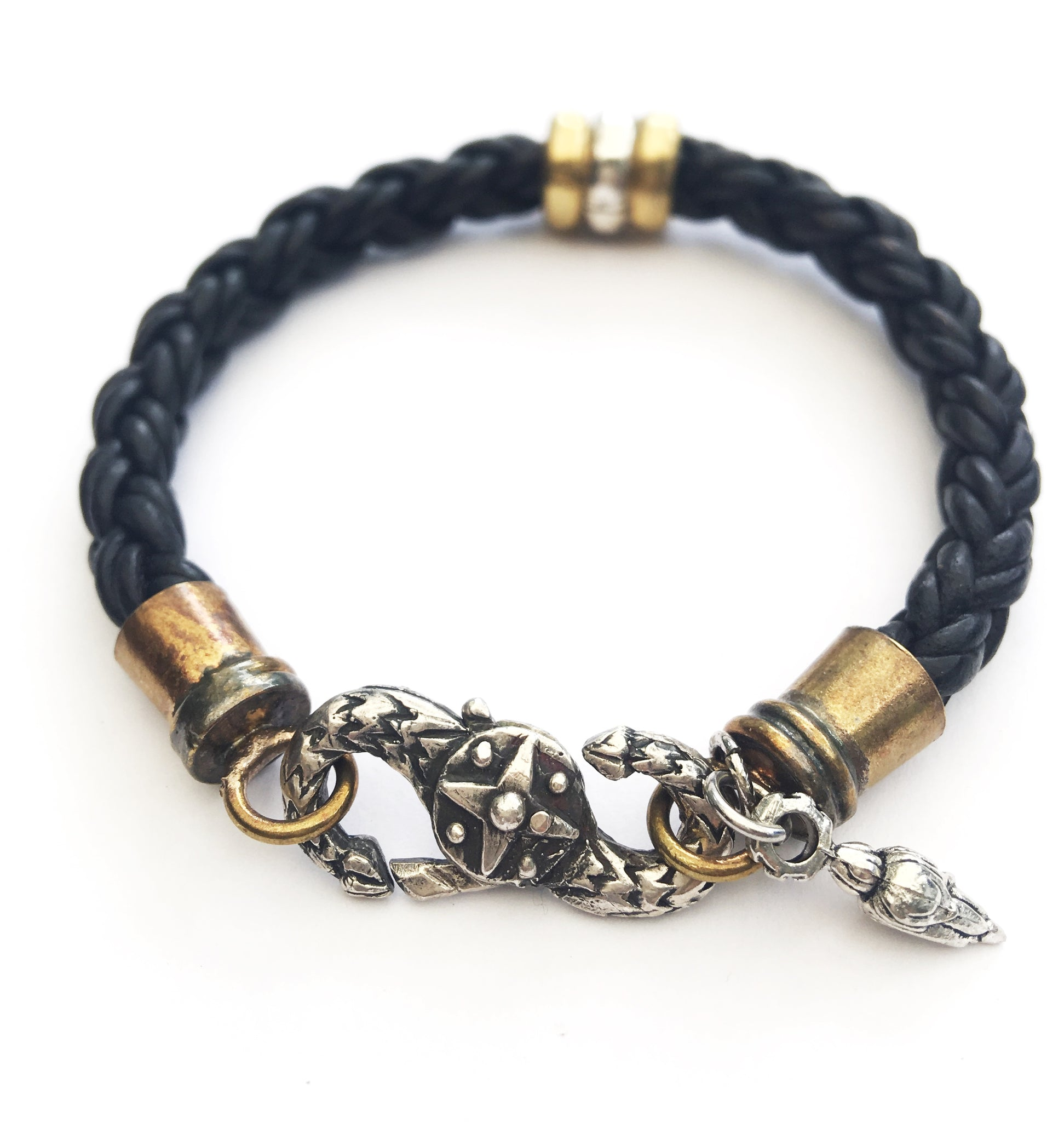 Edgy Leather Bracelet