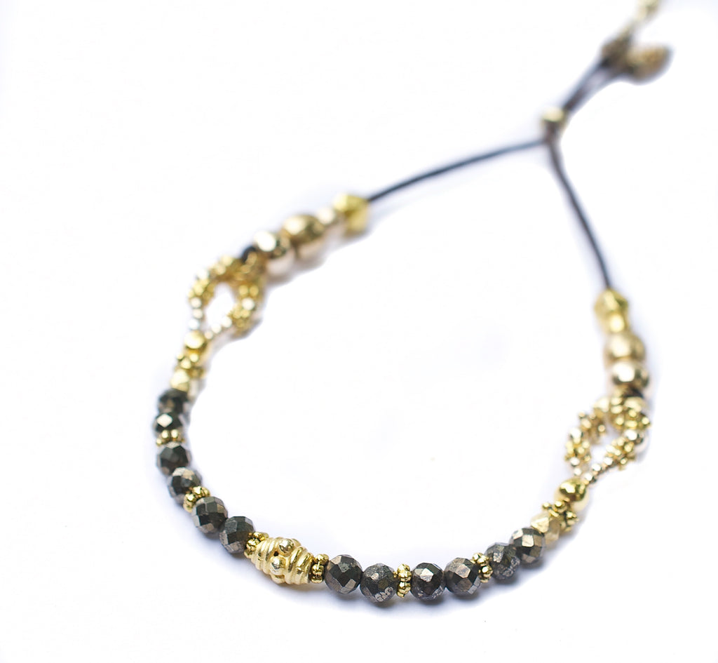 Gold & Pyrite Heather Bracelet