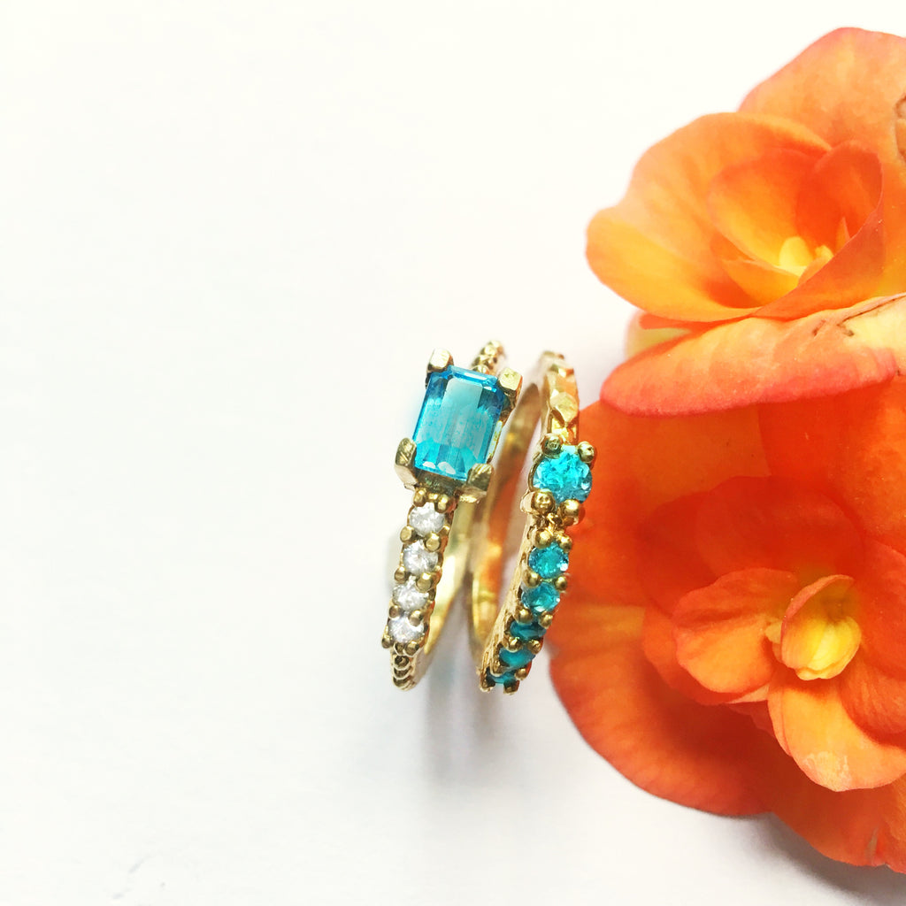 Blue Topaz Stackers