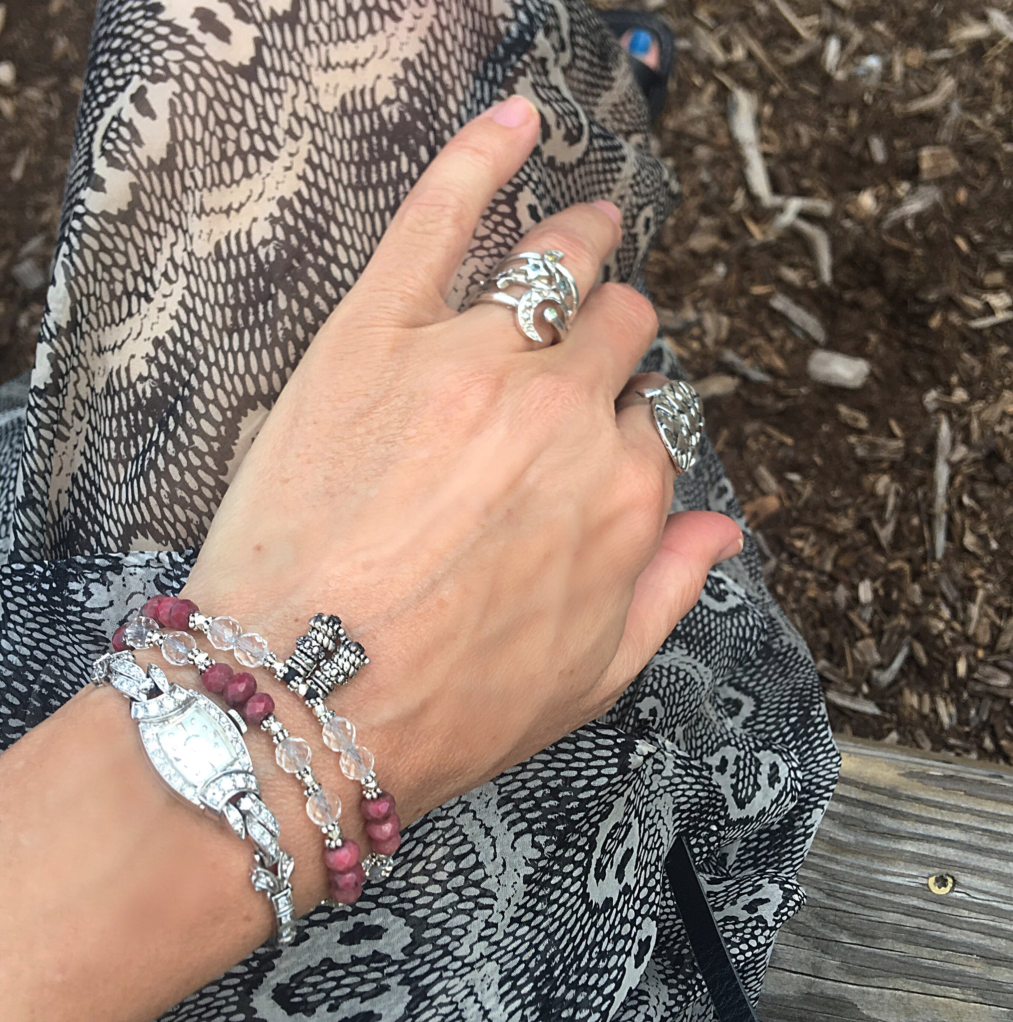 Ruby and Crystal Quartz Love Wrap