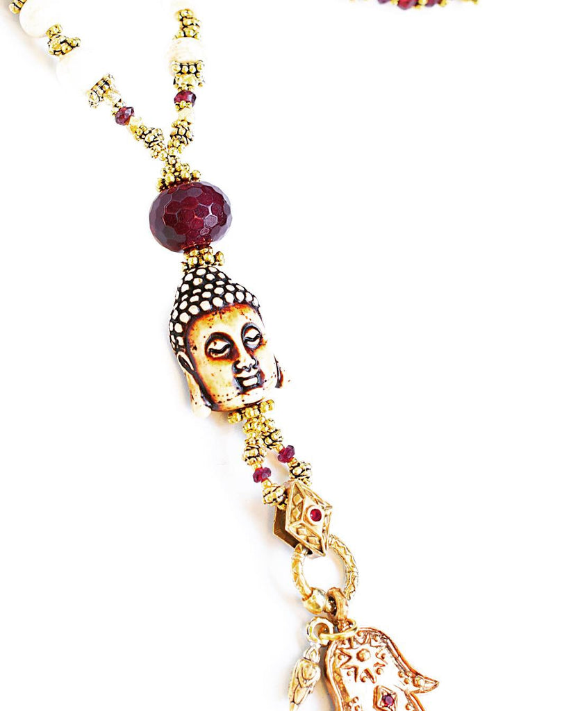 Buddha Hamsa Balance Energy Necklace