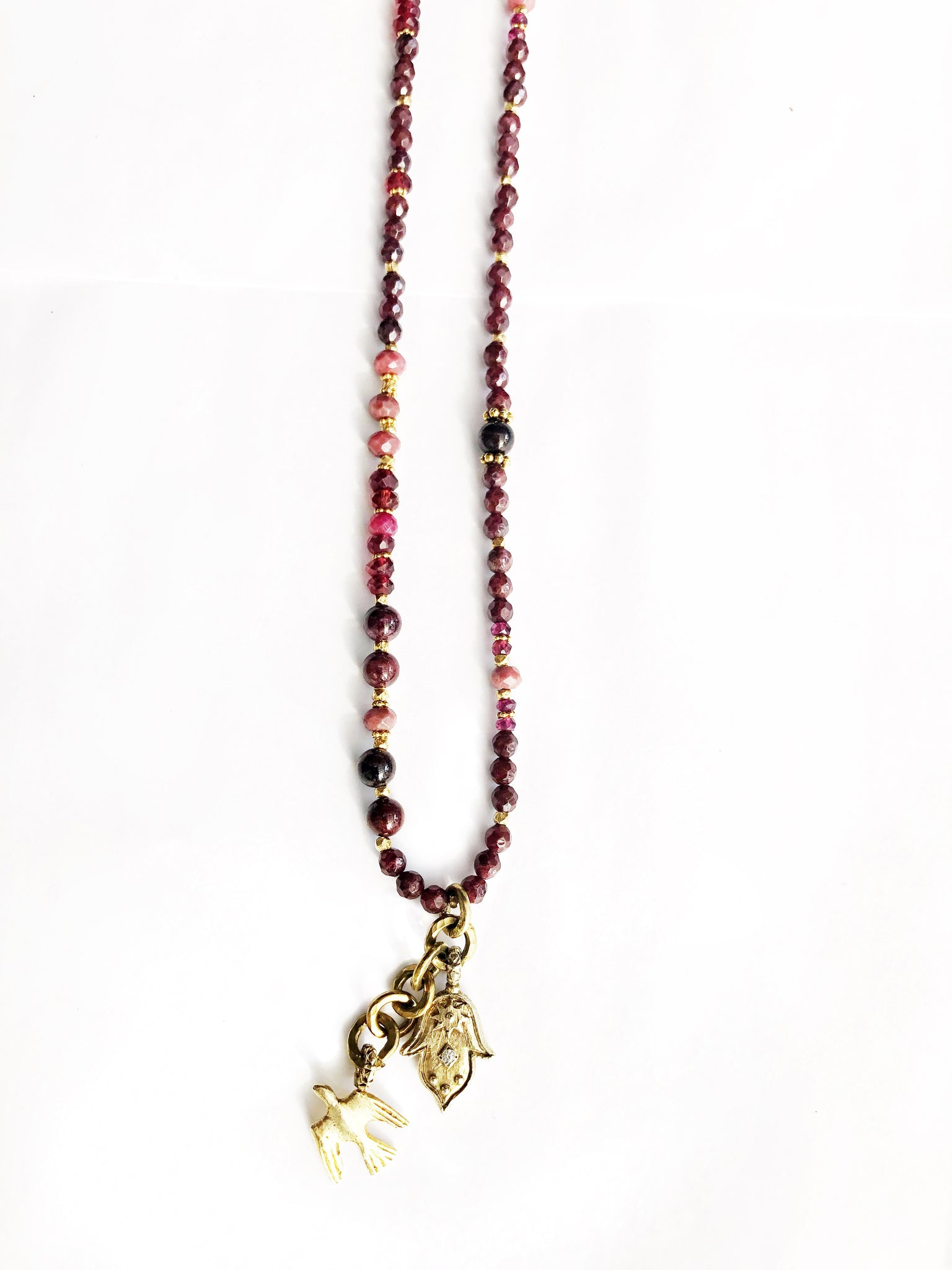 Golden Hamsa Fly Away Necklace