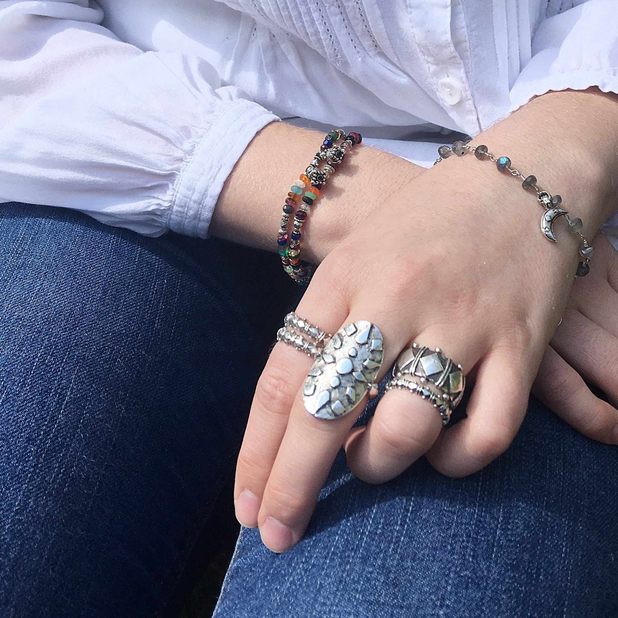 Sterling Silver Shakti Stack Rings