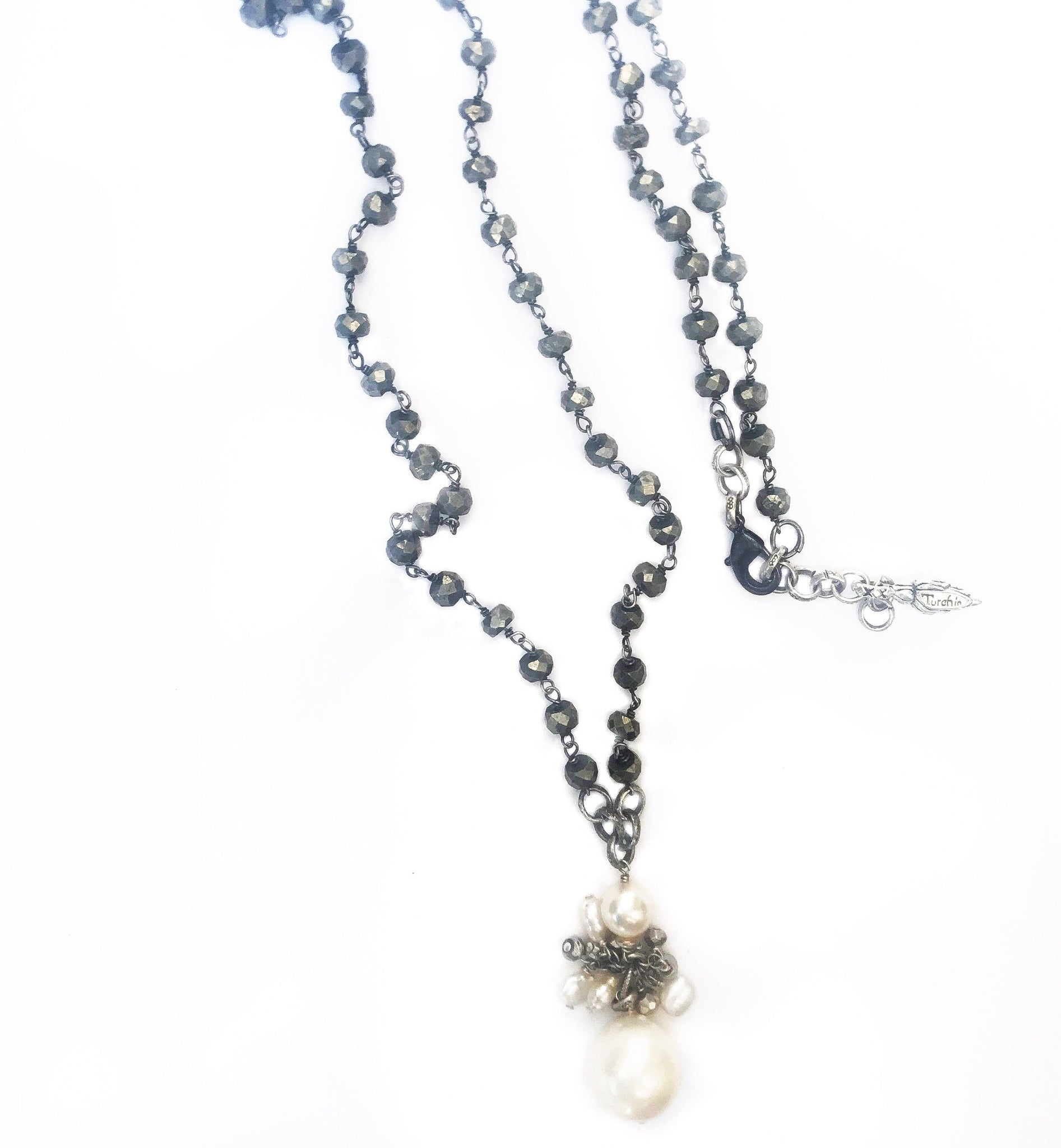Delicate Gemstone and Pearl Dangly Necklace