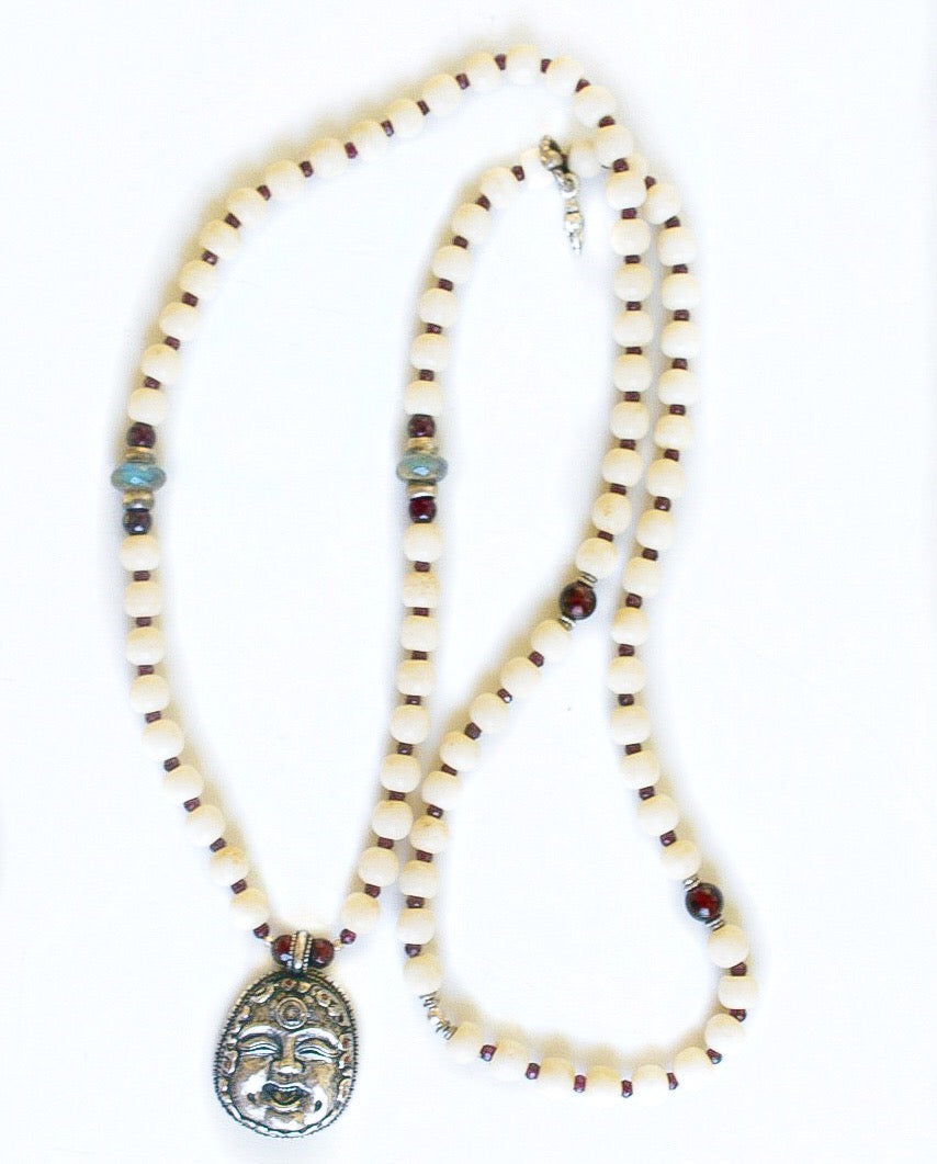 Happy Buddha with 3rd Eye Diamond Necklace